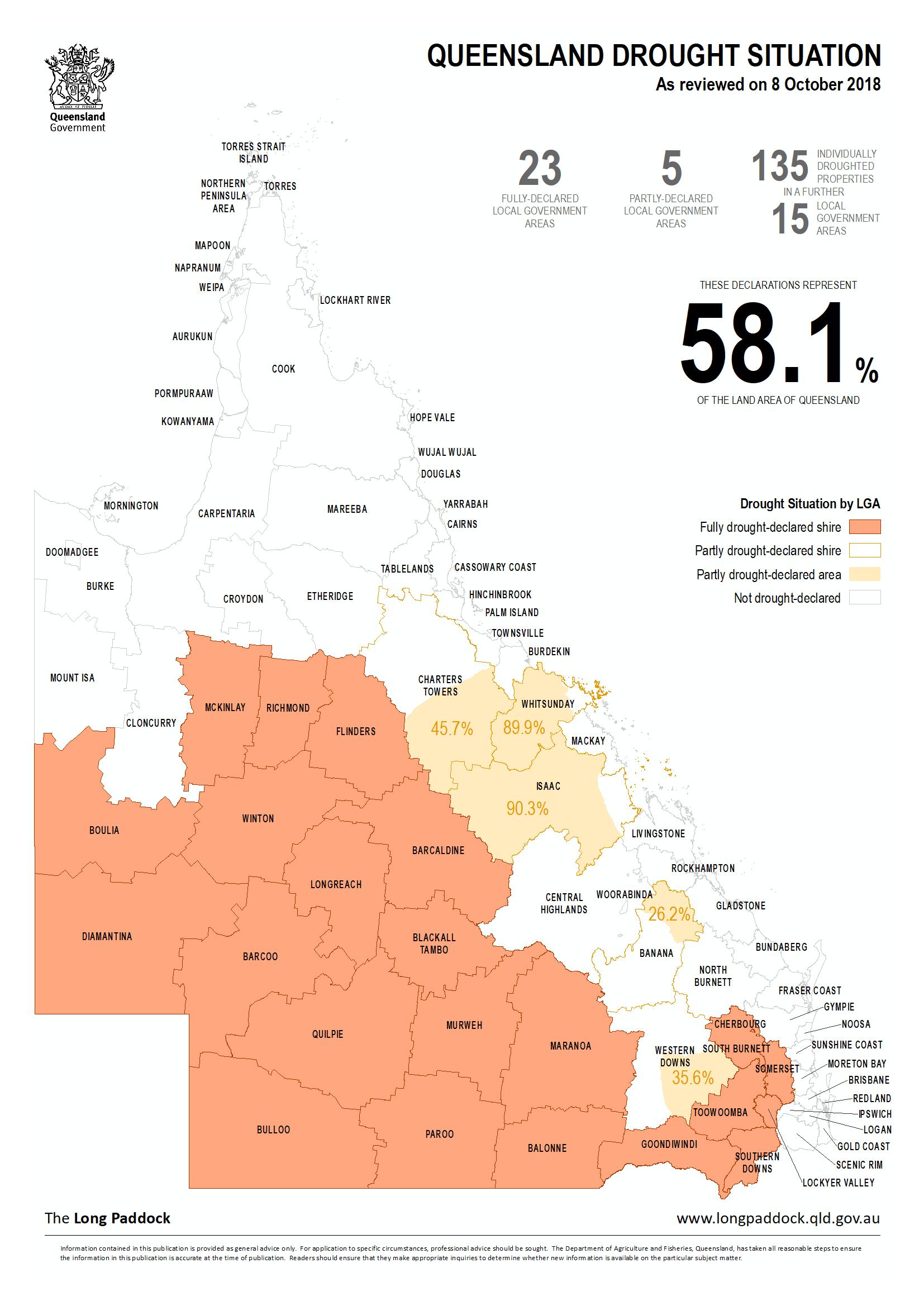 Map Of Texas Qld.Drought Declarations Longpaddock Queensland Government